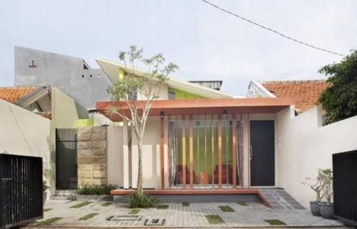 Desain atap minimalis 1 lantai Model Datar jendela rms