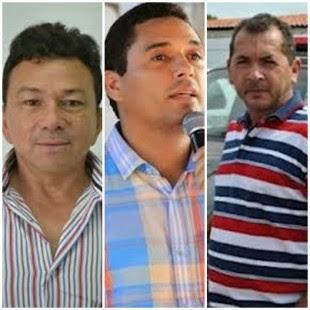 José de Ribamar Leite Araújo (Cândido Mendes), Atenir Ribeiro Marques (Alto Alegre do Pindaré) e Manoel Edivan Oliveira (Marajá do Sena)