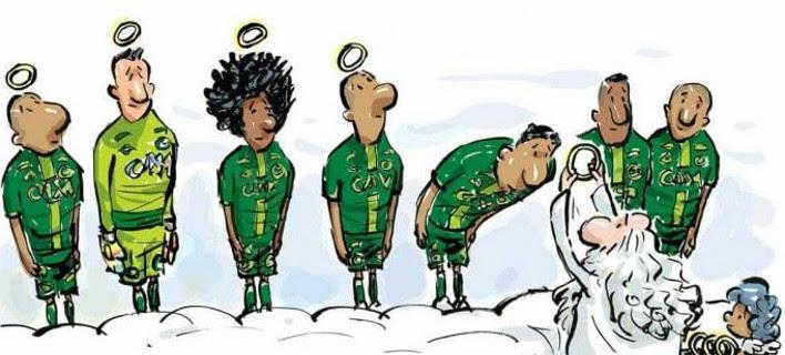 Το πιο δραματικό σκίτσο της χρονιάς - Απονομή στον παράδεισο για την Τσαπεκοένσε