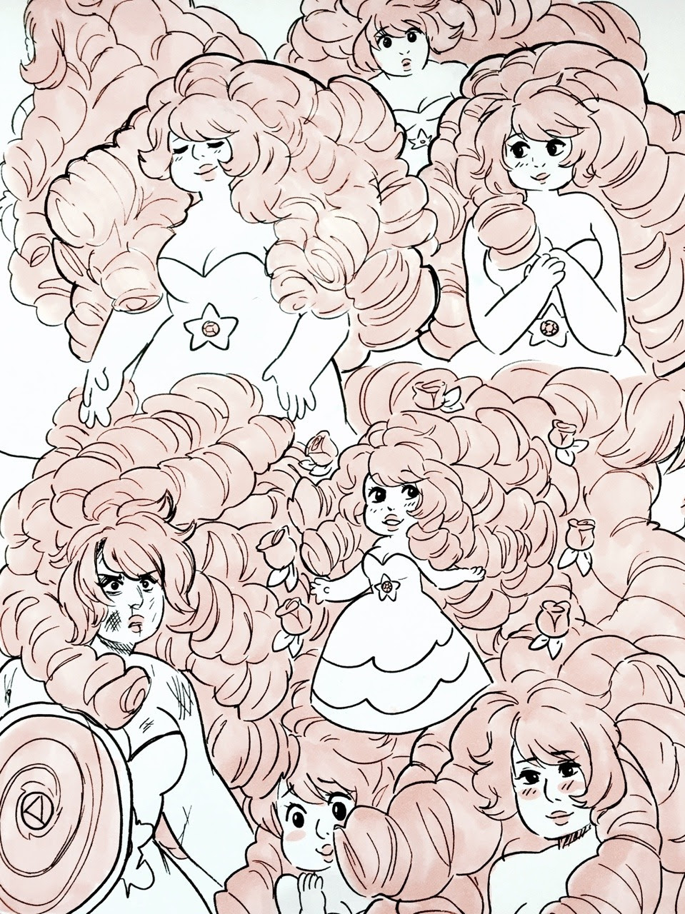 Rose Quartz sketches