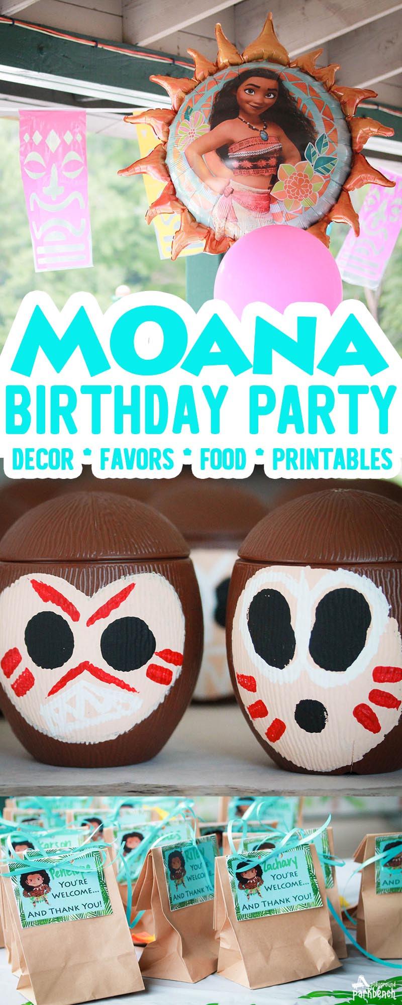 Make Way Moana Birthday Party Theme For Kids