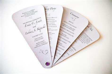 Kindly R.S.V.P. Designs' Blog: Unique Wedding Programs