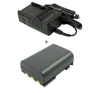 Battery Charger Canon MD205 Mini DV Camcorder MD235 NB 2L