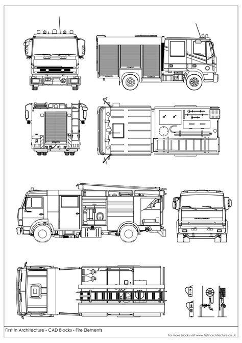 Free CAD Blocks – Fire elements and symbols | Cad | Cad