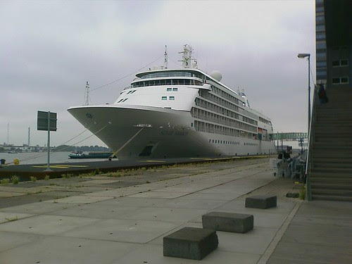Silver Shadow in port at Amsterdam