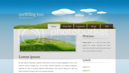Field Green Nature Web2.0 Blogger Template