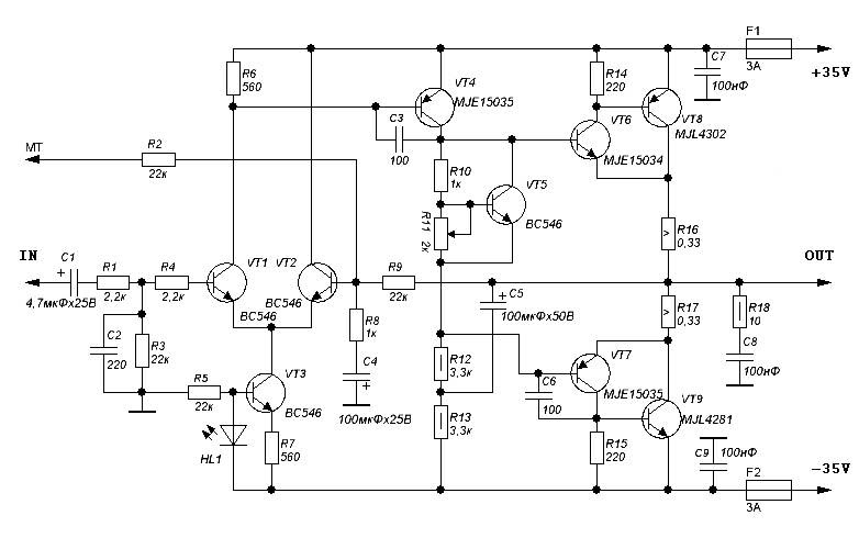 600 Watt Amplifier Circuit Circuit Diagram Images