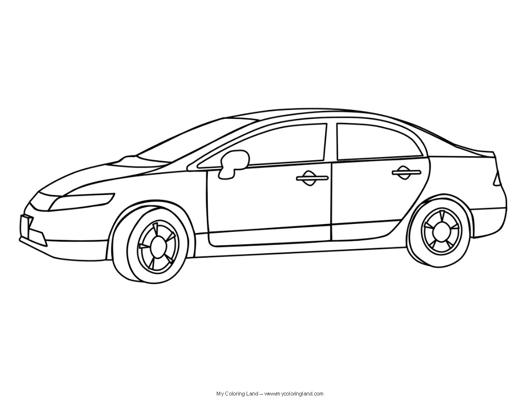 Free coloring pages of free cars