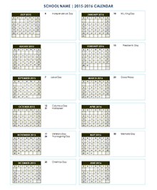 School Calendar 2017 - 2018 & Academic Calendar Templates