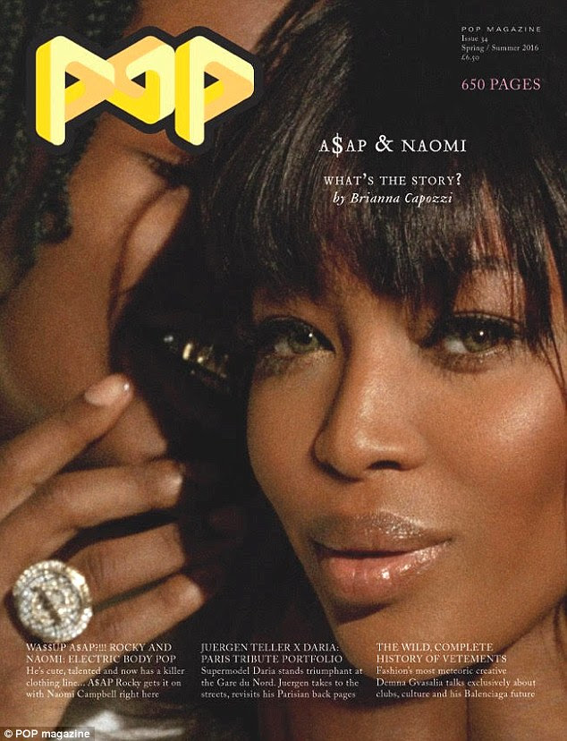Bold: They appeared on the front cover of POP, but Naomi, 45, clearly stole the show