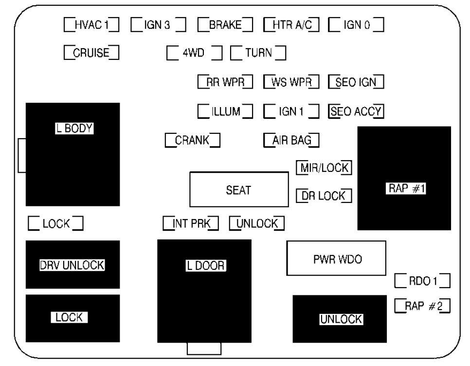 Gmc Denali 2002 Fuse Box Diagram Auto Genius