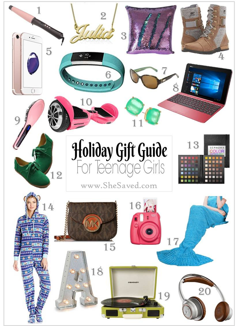 HOLIDAY GIFT GUIDE: Gifts for Teen Girls - SheSaved®