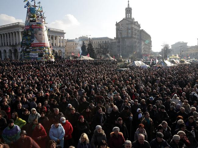 Anti-government protester in Kiev's Independence square on February 21. This has been ong