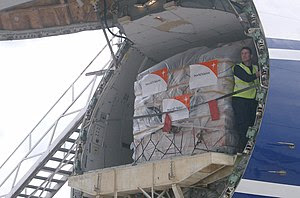 WV transports goods with air cargo to reach th...