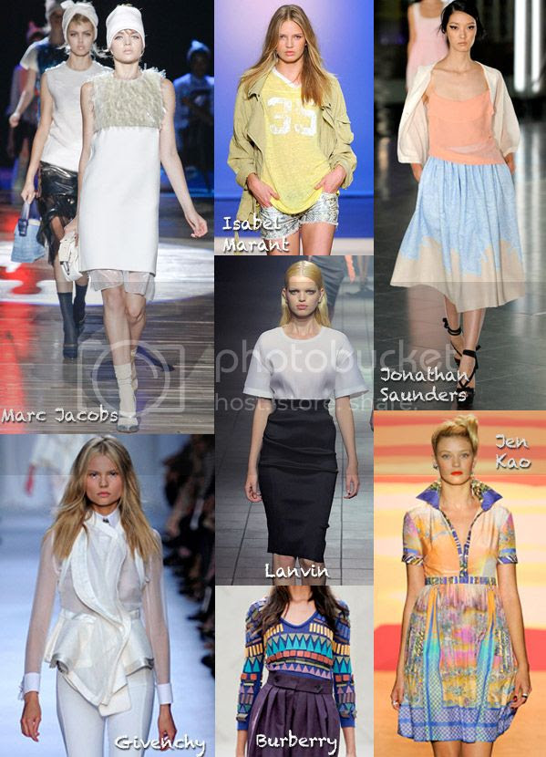 spring 2012 runway trends, sporty trend 2012, Lanvin pencil skirt, Givenchy waterfall jacket, Isabel Marant spring 2012, Jen Kao shirtdress