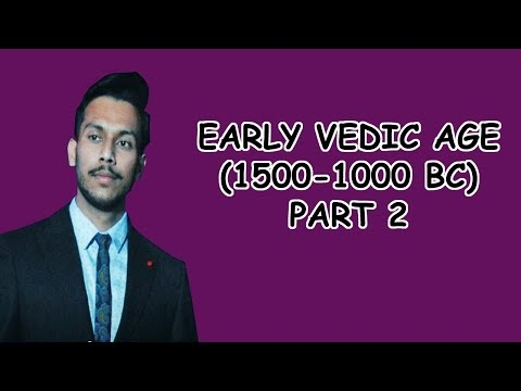 Early Vedic Age (1500-1000 BC) Part 2| Political Life | Social Life | Economic Life | 2020