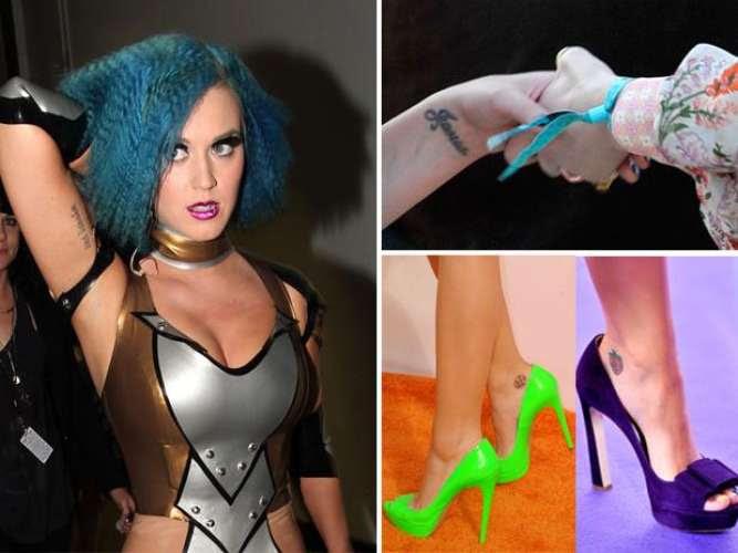 Katy Perry Ha Situado Estratégicamente Sus Tatuajes En El Brazo Y