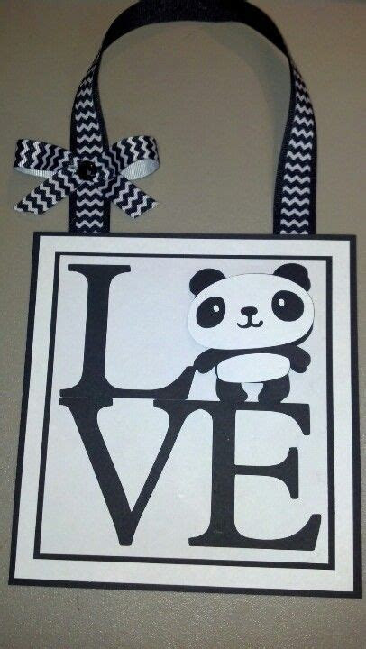Love panda. Wall decor. Created 10 10 12   Manualidades en