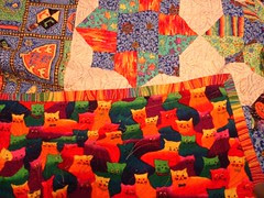 A peek of the quilt back