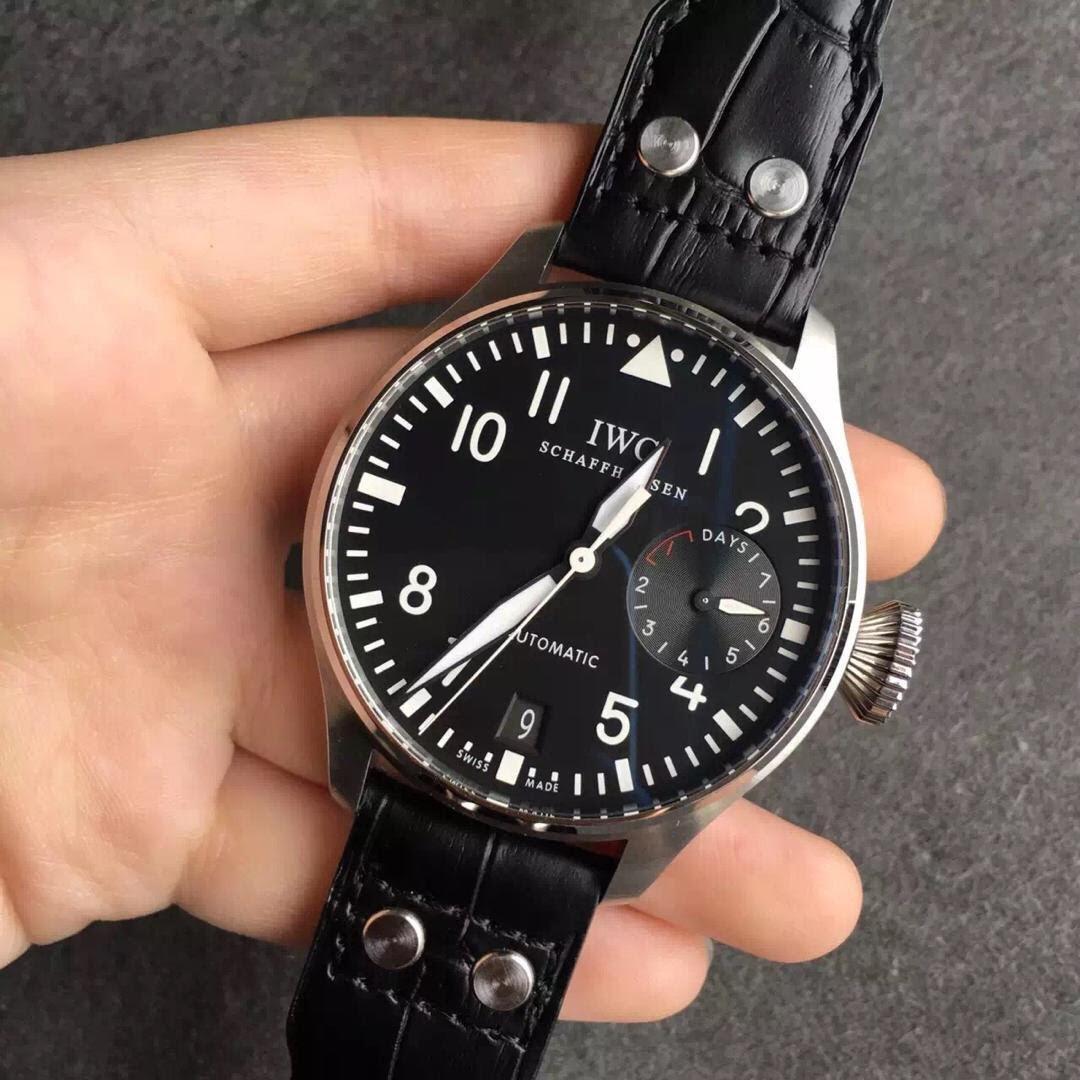 IWC Big Pilot Black Watch Replica