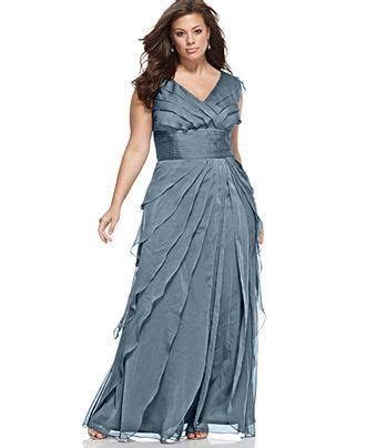 Adrianna Papell Plus Size Dress, Sleeveless Tiered Empire