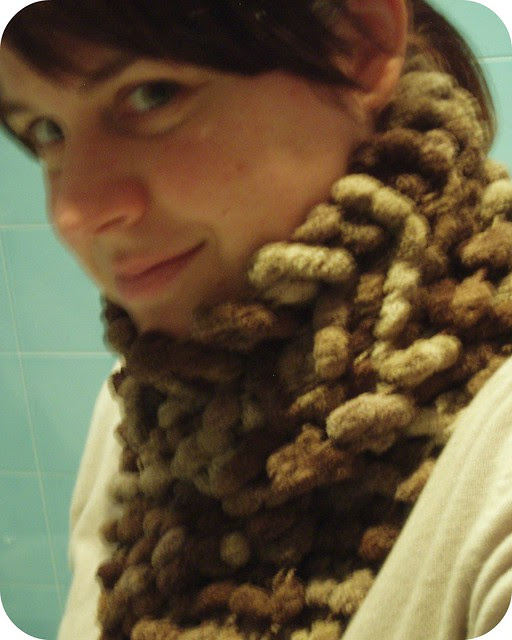 Me (with my new handknitted scarf)