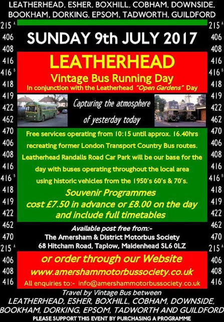 Sunday 9th July - Leatherhead