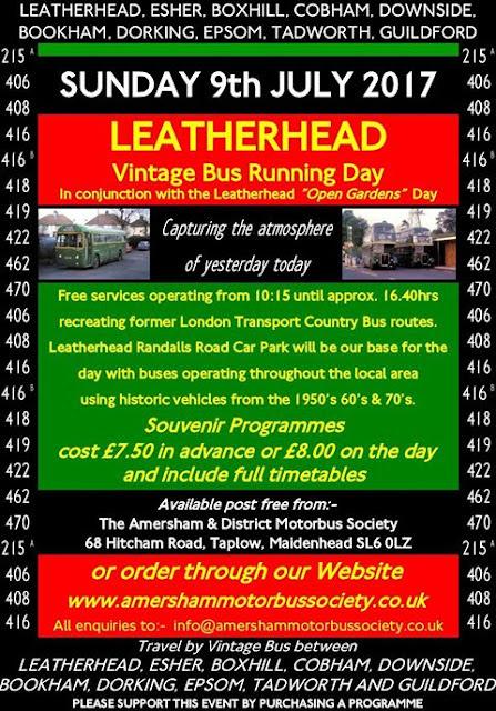 Sunday 9th July - Leatherhead