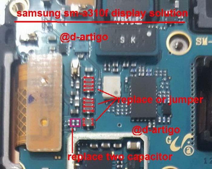 Samsung Galaxy A3 2016 display problem solution
