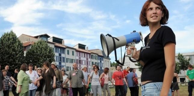 Les indignés à Bayonne  (AFP)