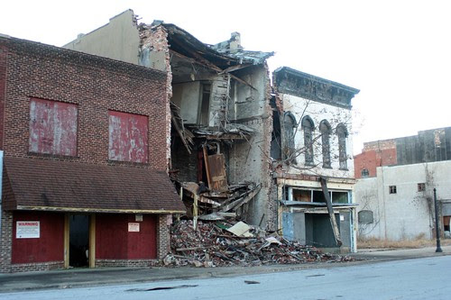 Commercial Street collapse