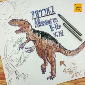 恐竜大好き子どもたちのために恐竜ぬりえを自作してみました