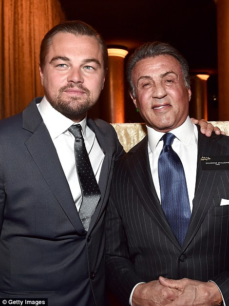 Bonding with the action star: The drama actor spent time with Sylvester Stallone, who has been praised for his work in Creed