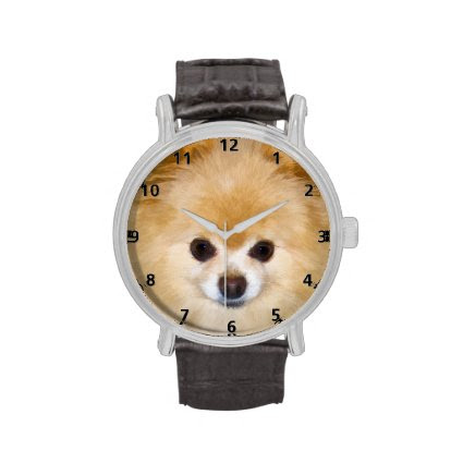 Pomeranian Dog Wristwatches