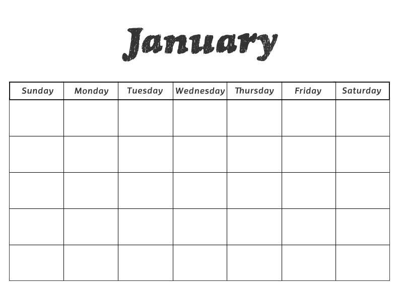 blank calendar numbers - Calendar