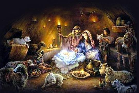 Η γέννηση τού Ιησού στο σπήλαιο