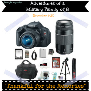thankful for the memories giveaway event