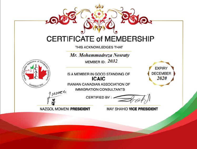 Certificate - Progressive Immigration Services Inc.