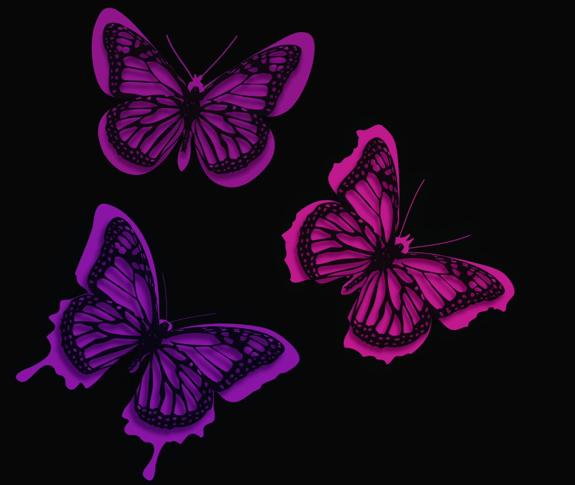 Pink Butterflies Artistic, HD Artist, 4k Wallpapers ...