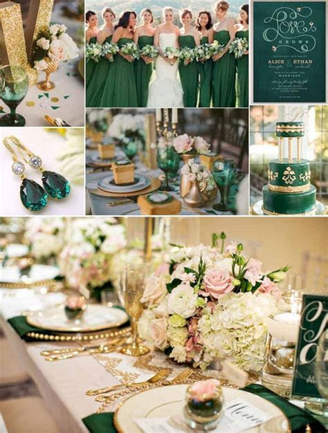 Dark Green and Gold Wedding Ideas ? OOSILE