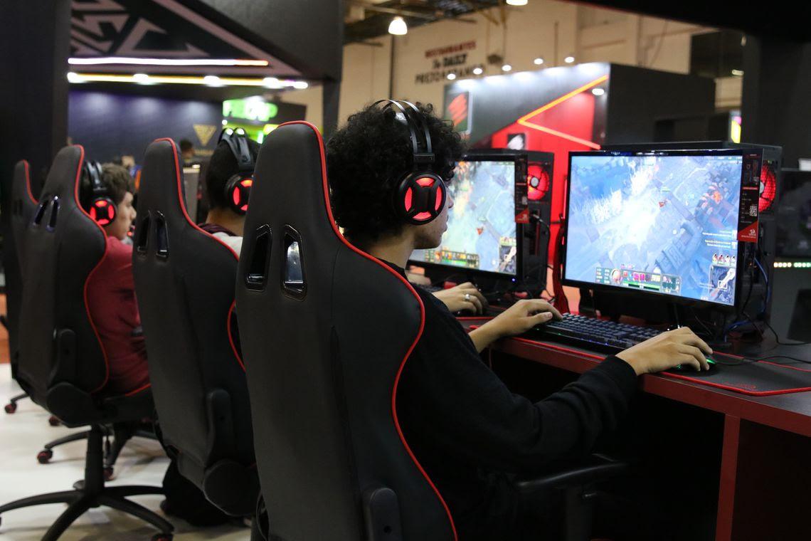 São Paulo - Brasil Game Show (BGS) 2019, maior feira de games da América Latina, no Expo Center Norte.