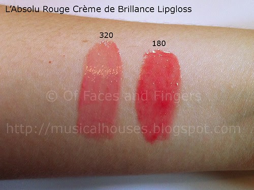 lancome rouge creme de brilliance lipgloss swatch