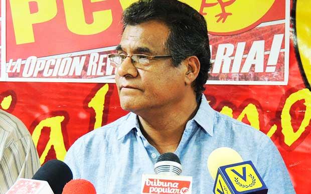 Douglas Gómez, Secretario Nacional de Masas del Partido Comunista de Venezuela