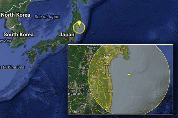 Kumamoto earthquake locator map