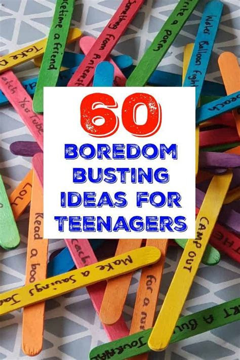 bored jar  teenagers  diary   frugal family