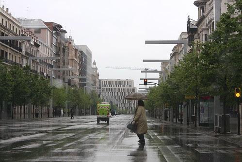llueve en Zaragoza