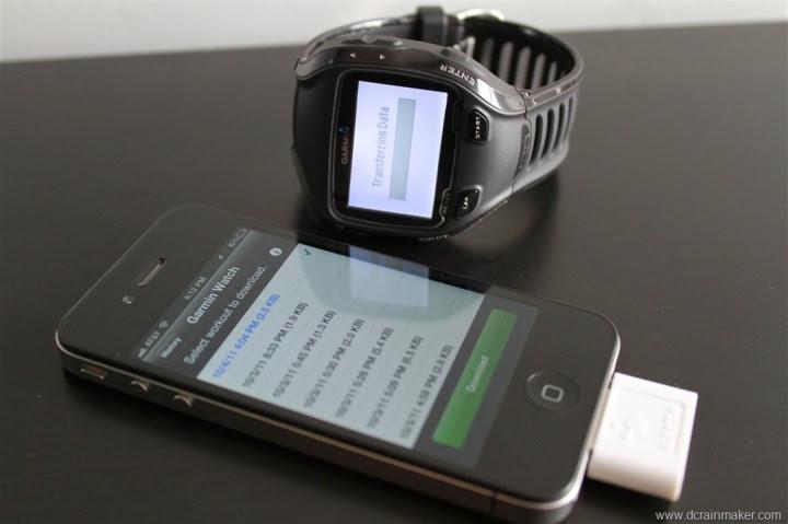 Garmin FR910XT Downloading Workouts via Wahoo Fitness iPhone Dongle