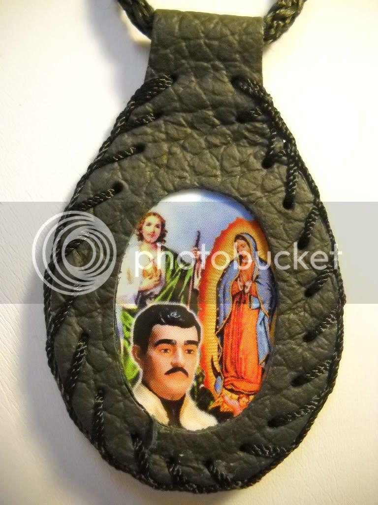 Virgen De Guadalupe San Judas Jesus Malverde Pendant Lucky Charm On