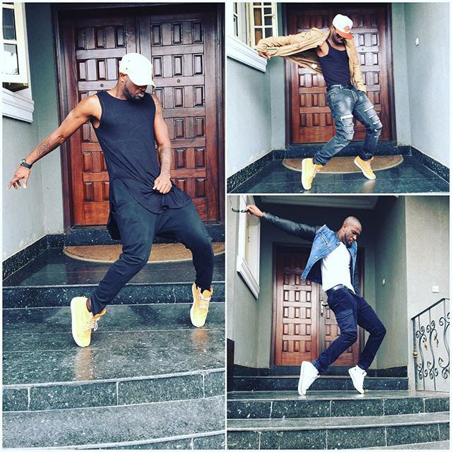 Peter Okoye Shows Off Dance Moves