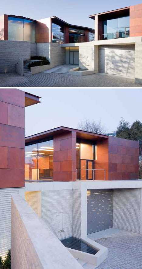 copper-clad Daeyang House Steven Holl Korea